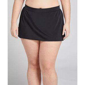 Lane Bryant Black Slitted Swim Skirt 16